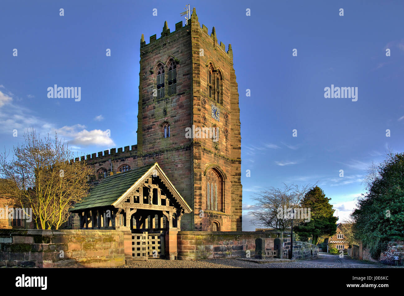 St Marys and All Saints Church in the Cheshire village of Great Budworth. - Stock Image