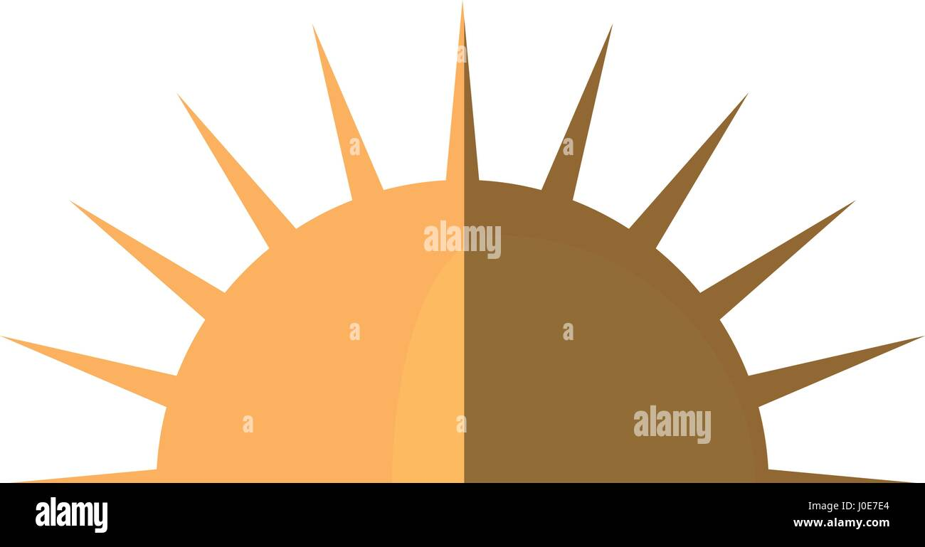 sun day weather shadow - Stock Vector