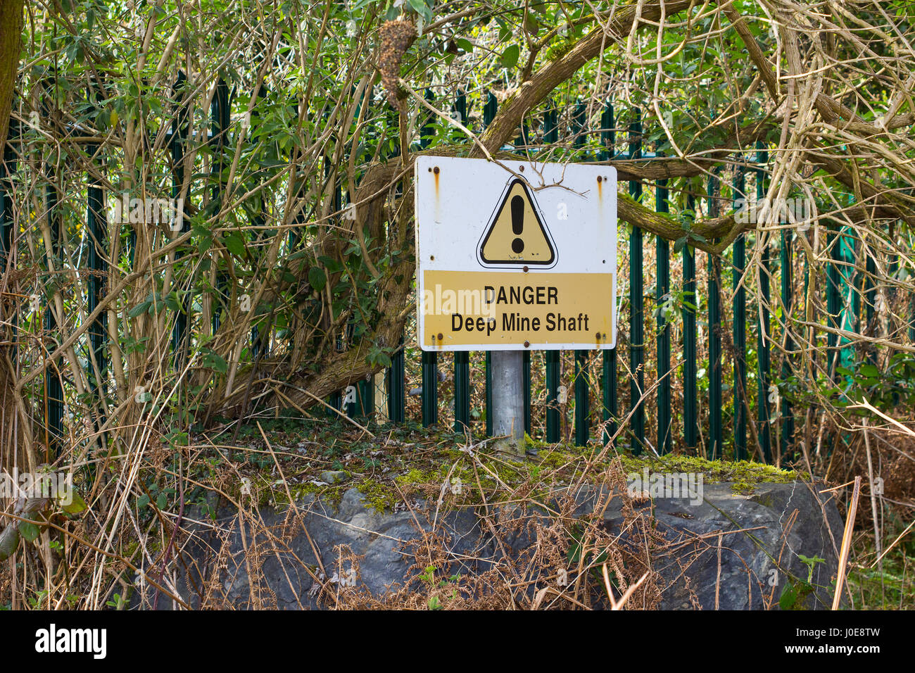 Mine Shaft Warning Sign Stock Photos & Mine Shaft Warning Sign Stock