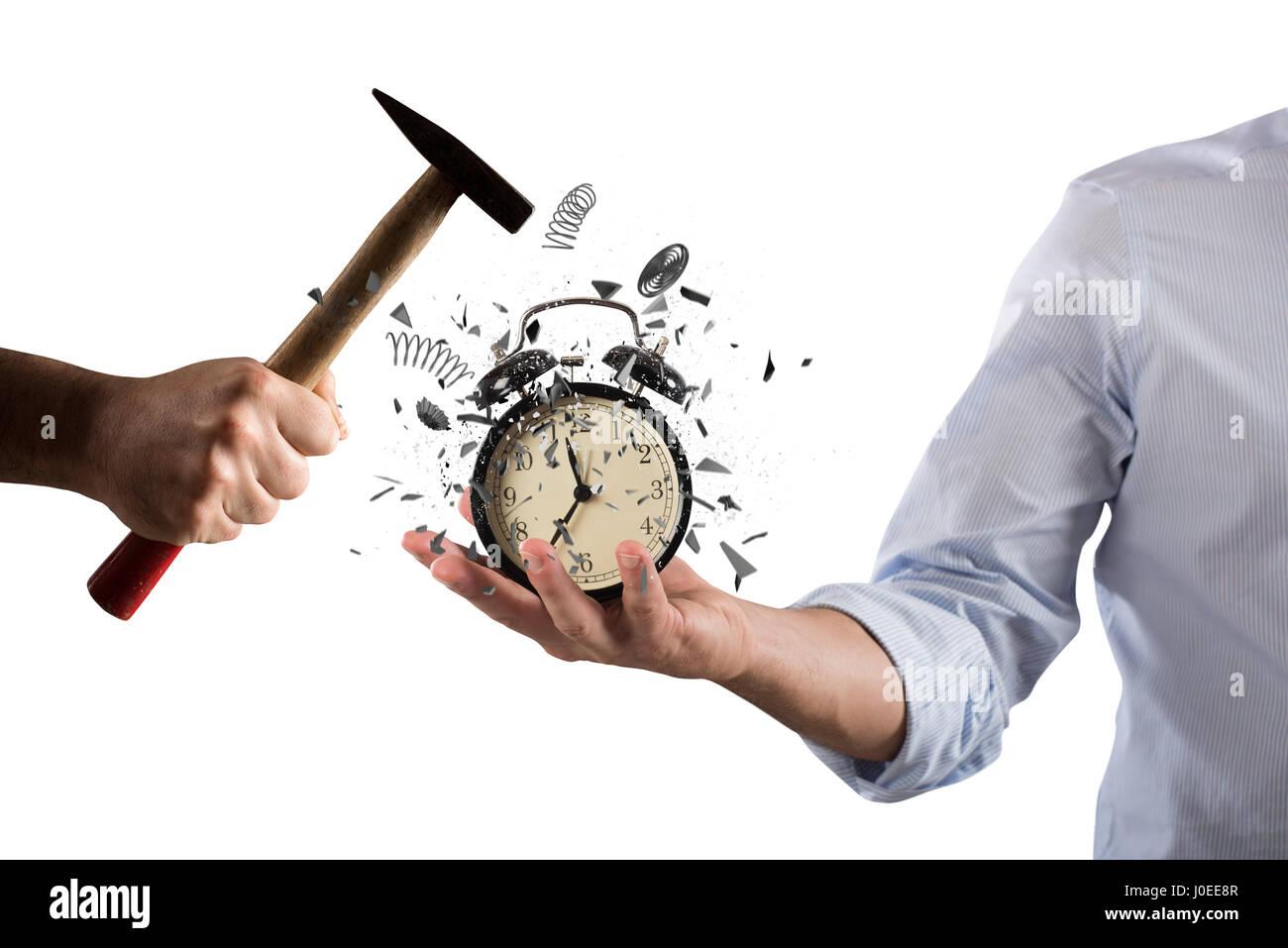 Alarm clock broken - Stock Image