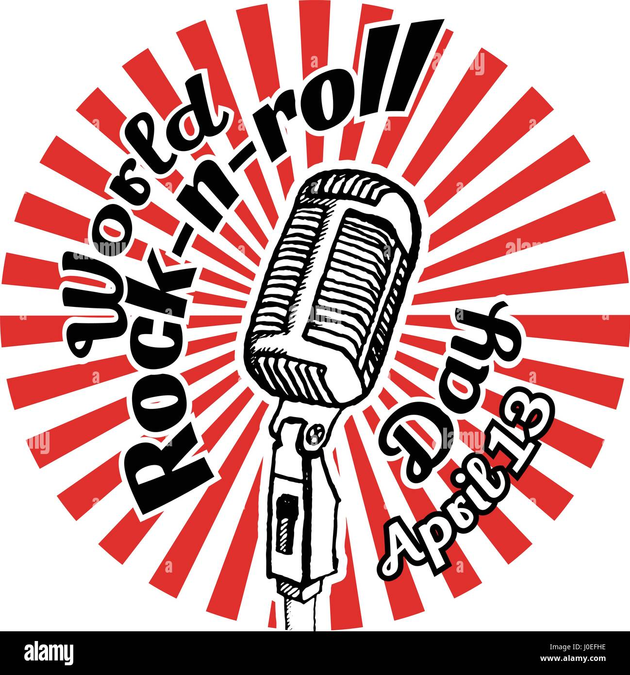 World Rock-n-roll Day Stock Vector Art & Illustration ...