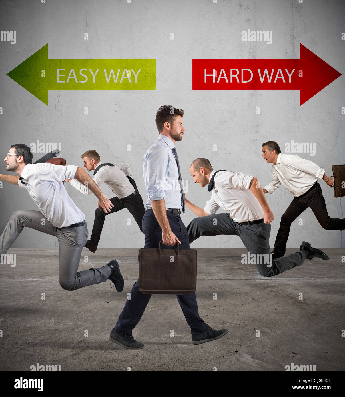 Follow the hard way for success. - Stock Image