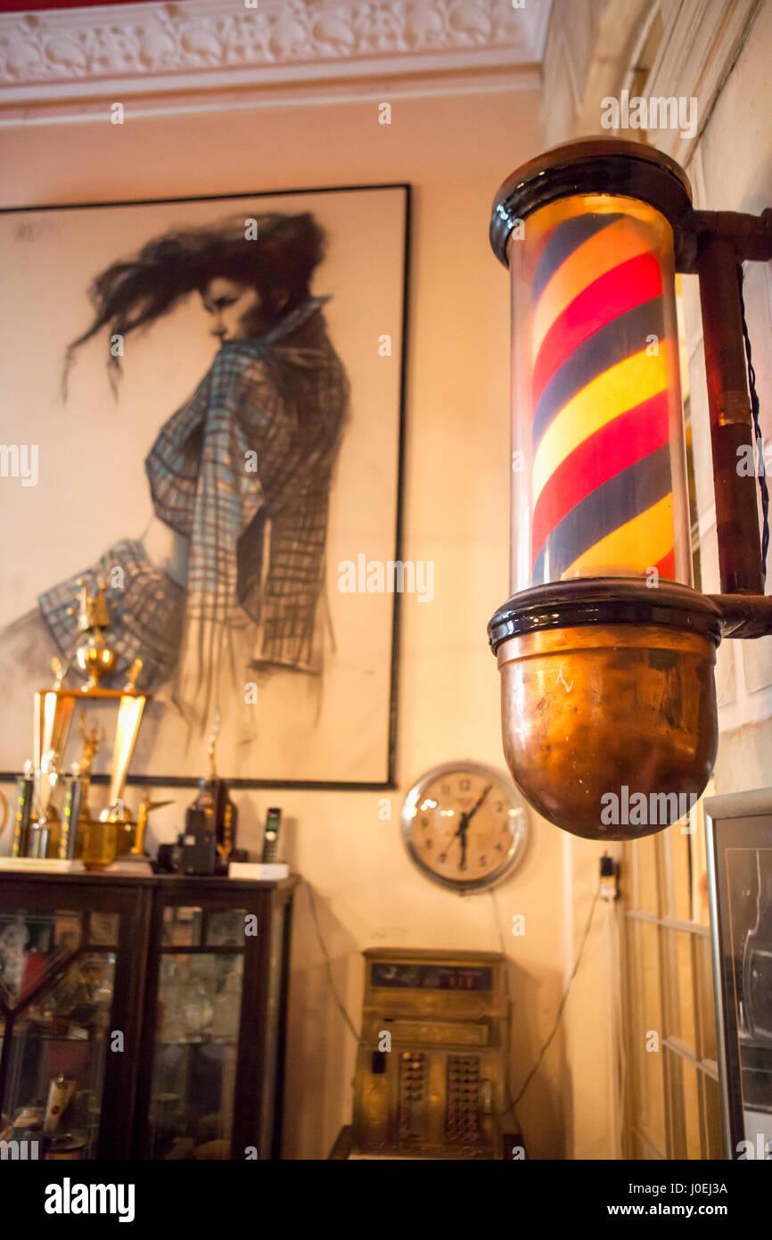Barber Pole, Havana, Cuba - Stock Image