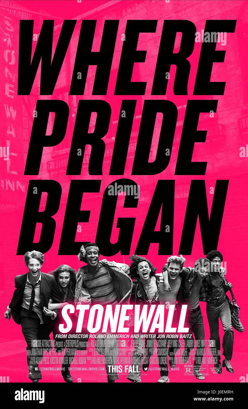 MOVIE POSTER STONEWALL (2015) - Stock Image