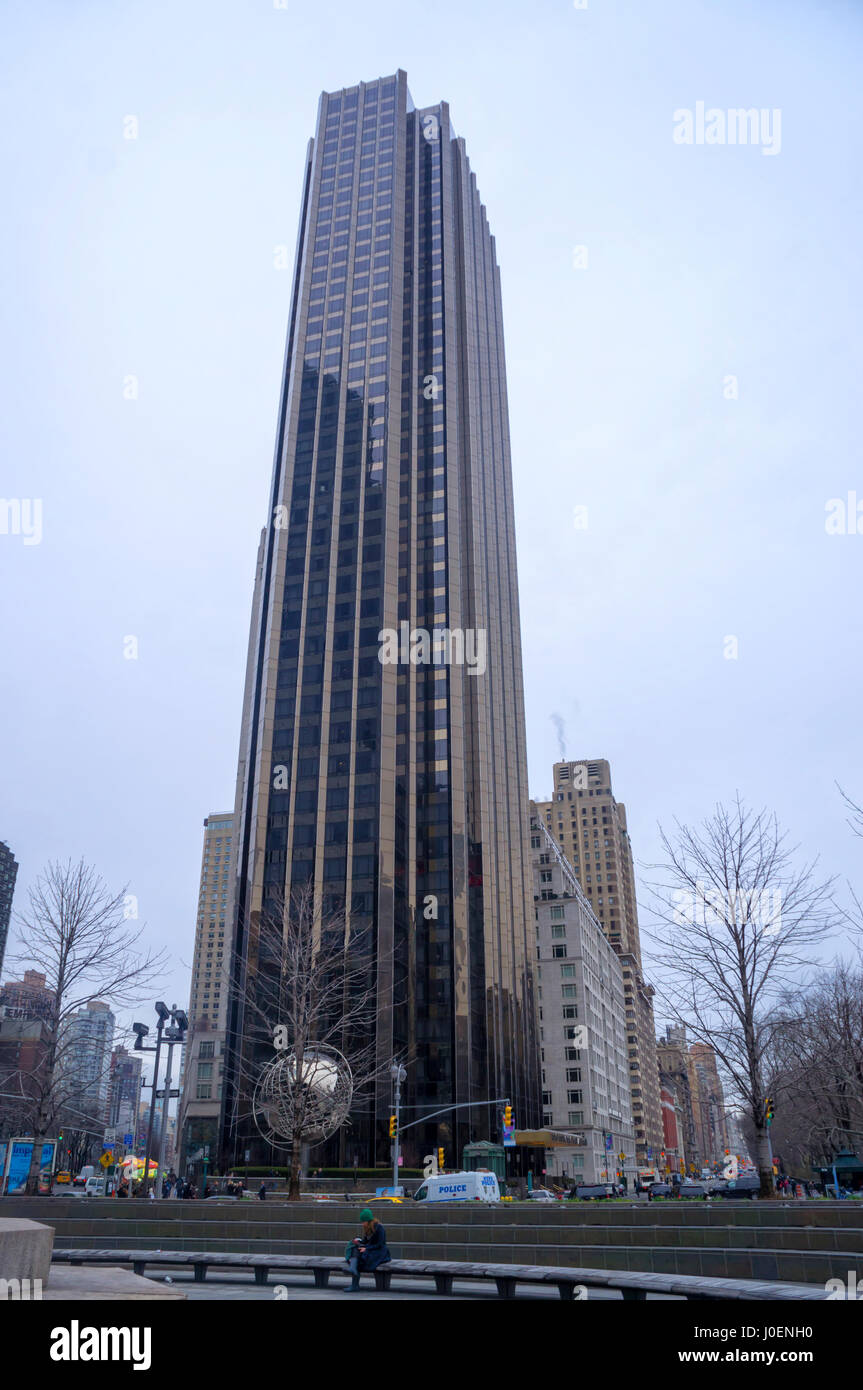 Trump Tower, Central Park, New York City (NYC), Skyscraper - Stock Image