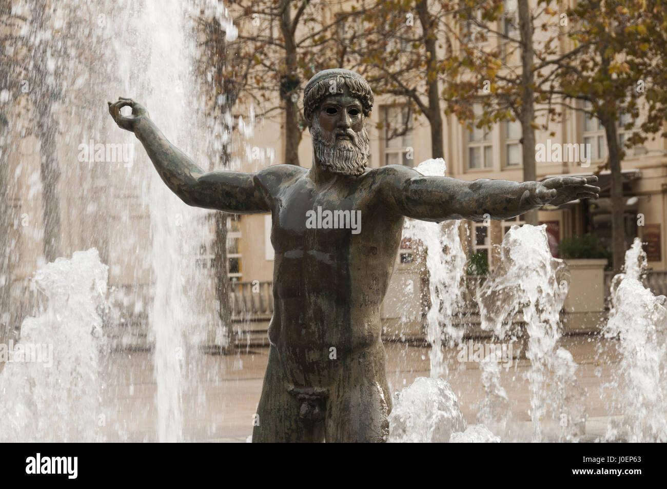 Montpellier, Antigone complex, Poseidon fountain Stock Photo