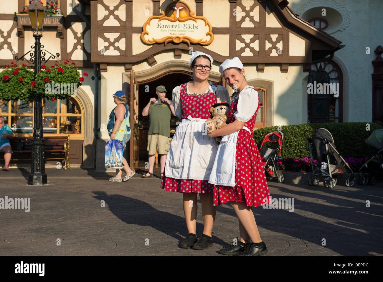 Karamell Kuche Epcot Germany Pavilion Disney World Orlando Stock