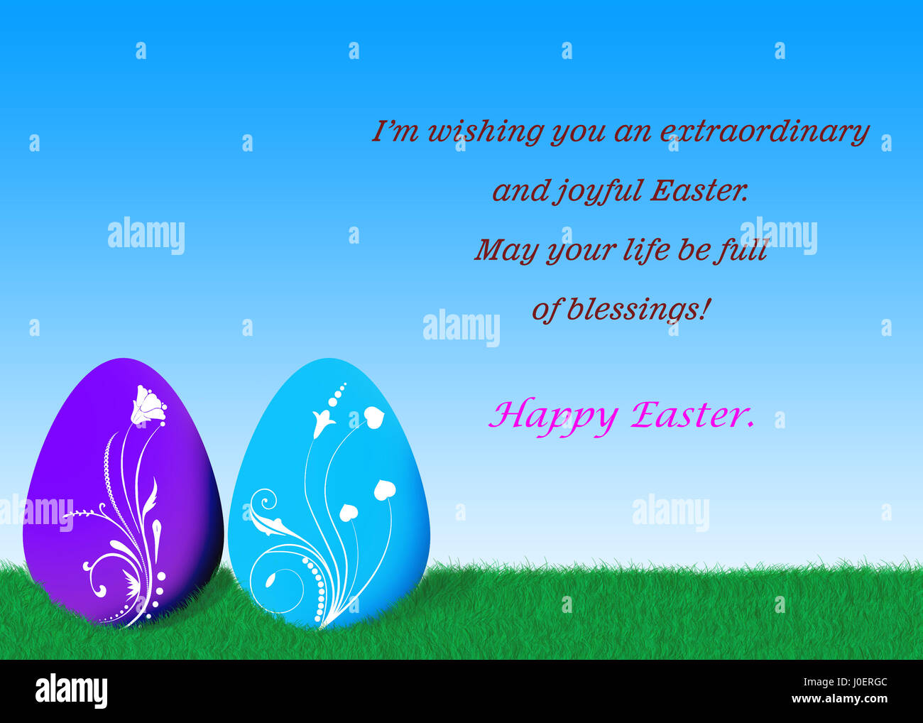 Happy Easter Day Quotes Stock Photo Alamy