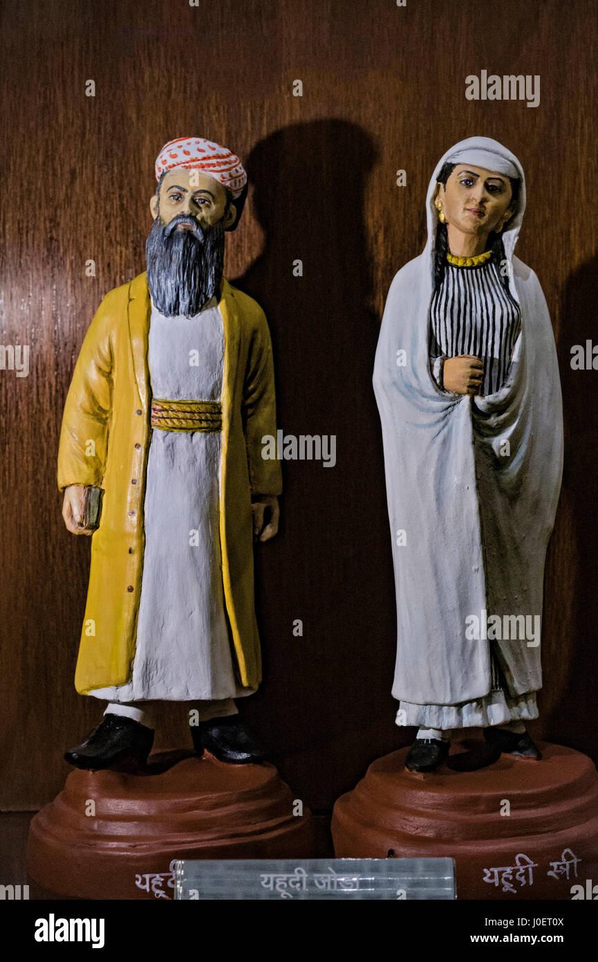 Jewish couple statue, bhau daji lad museum, mumbai, maharashtra, india, asia - Stock Image