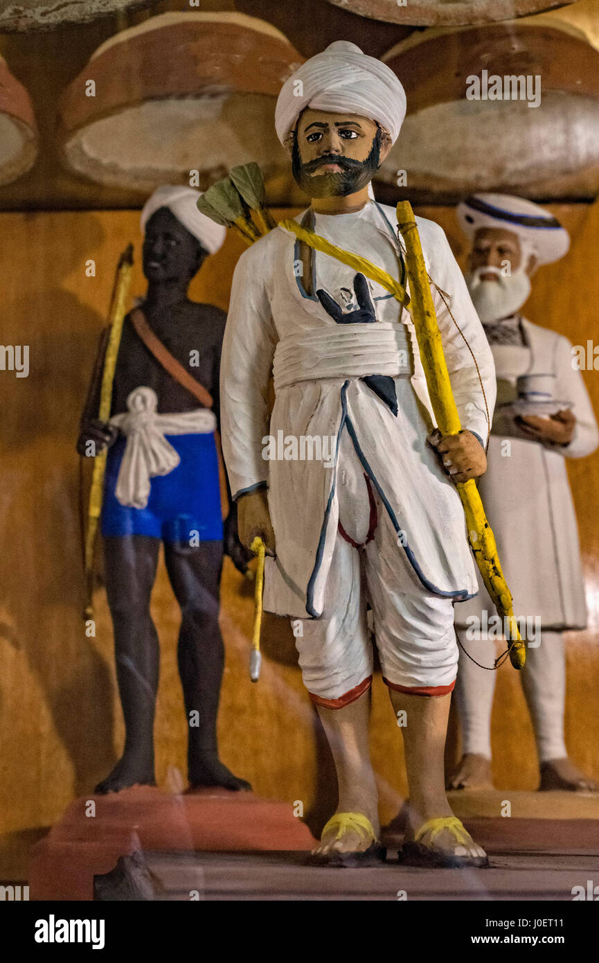 Clay models, bhau daji lad museum, mumbai, maharashtra, india, asia - Stock Image