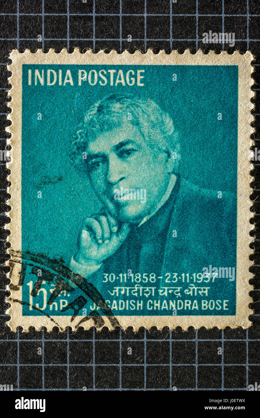 Jagadish chandra bose, postage stamps, india, asia - Stock Image