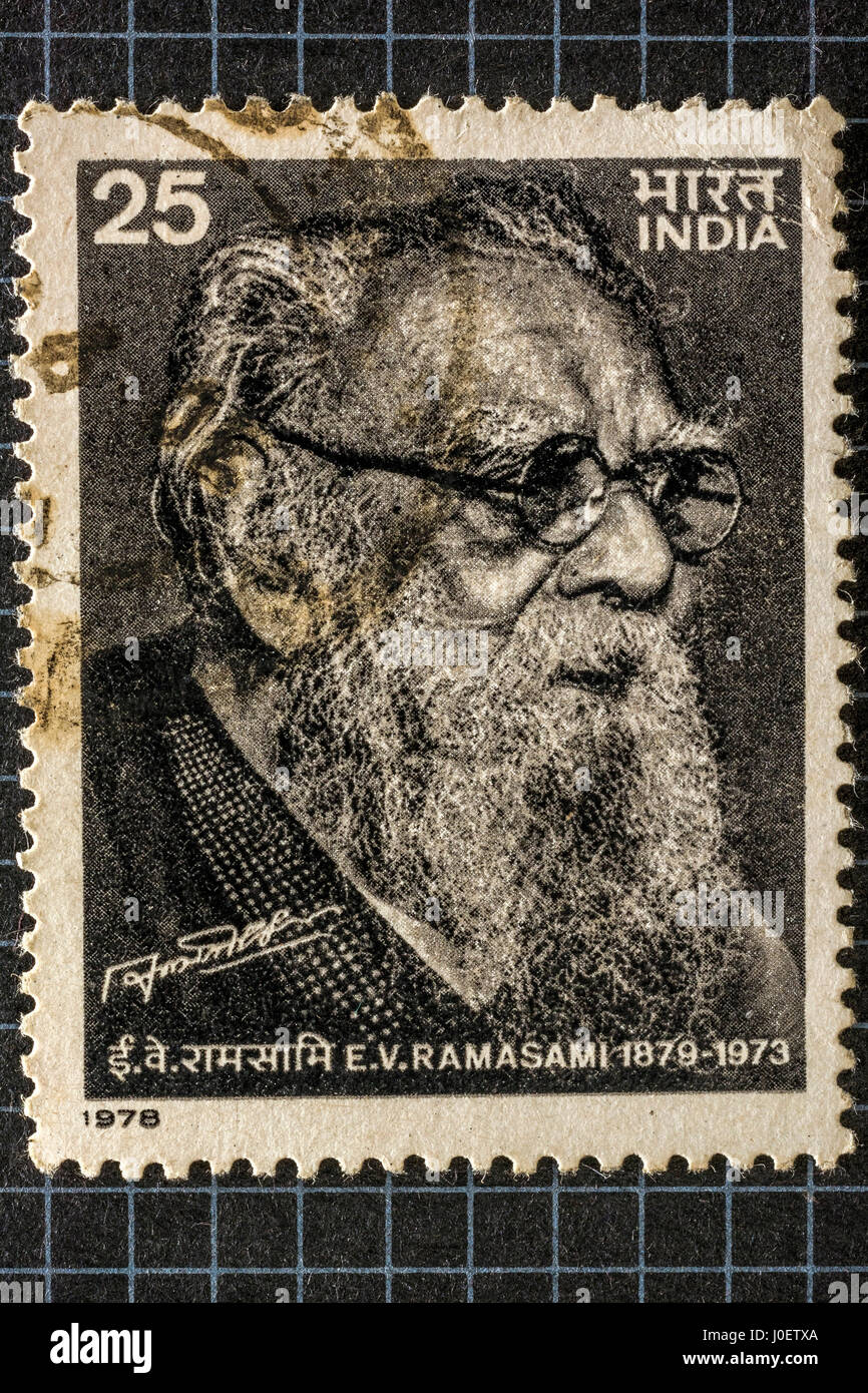 E V Ramasamy, postage stamps, india, asia - Stock Image
