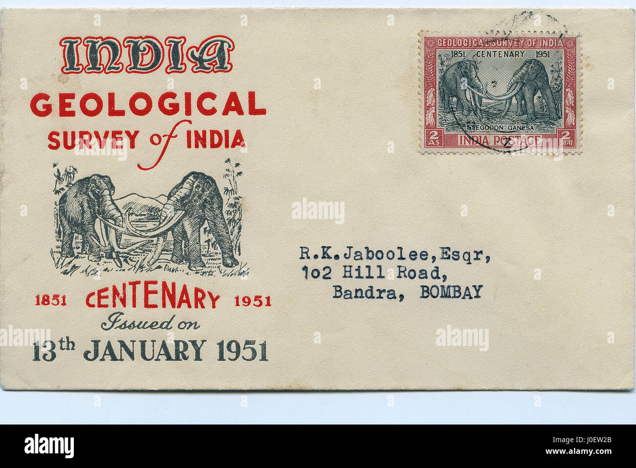 Geological survey, postage stamps, india, asia - Stock Image