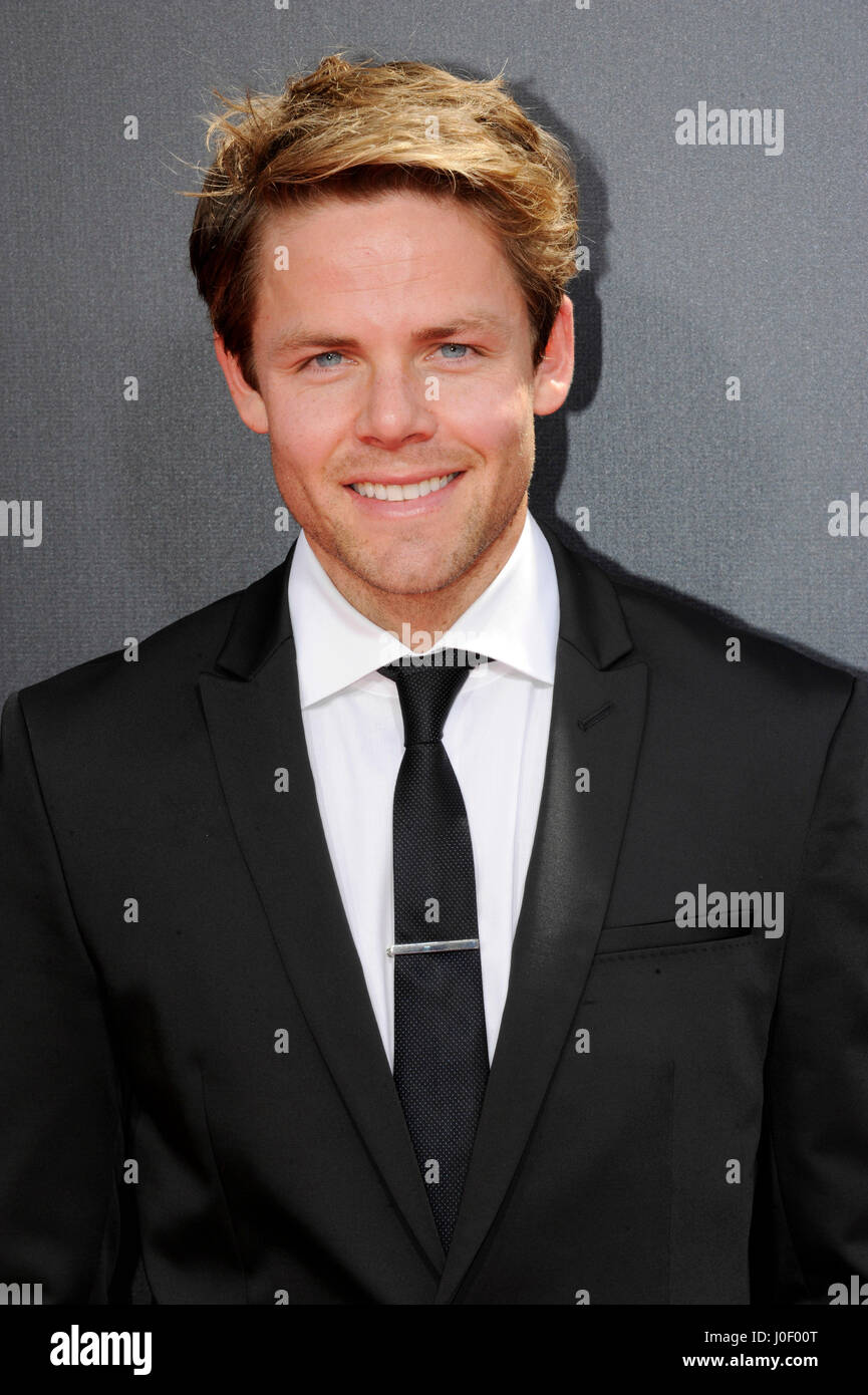 Lachlan Buchanan attends the 42nd annual Daytime Emmy Awards at Warner Bros. Studios on April 26th, 2015 in Burbank, - Stock Image
