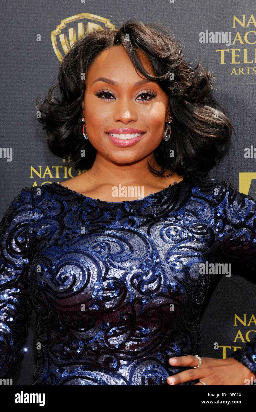 Angell Conwell attends the 42nd annual Daytime Emmy Awards at Warner Bros. Studios on April 26th, 2015 in Burbank, - Stock Image