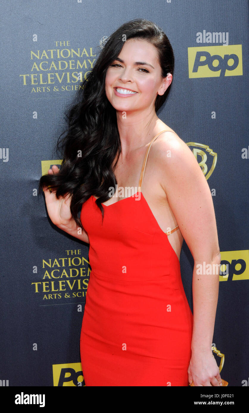 Katie Lee attends the 42nd annual Daytime Emmy Awards at Warner Bros. Studios on April 26th, 2015 in Burbank, California. - Stock Image