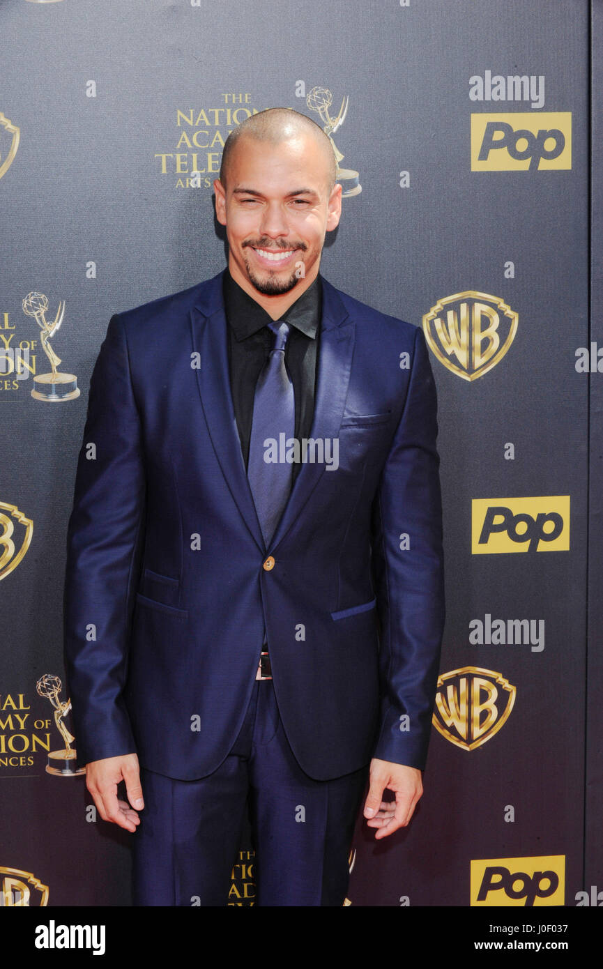 Bryton James attends the 42nd annual Daytime Emmy Awards at Warner Bros. Studios on April 26th, 2015 in Burbank, - Stock Image