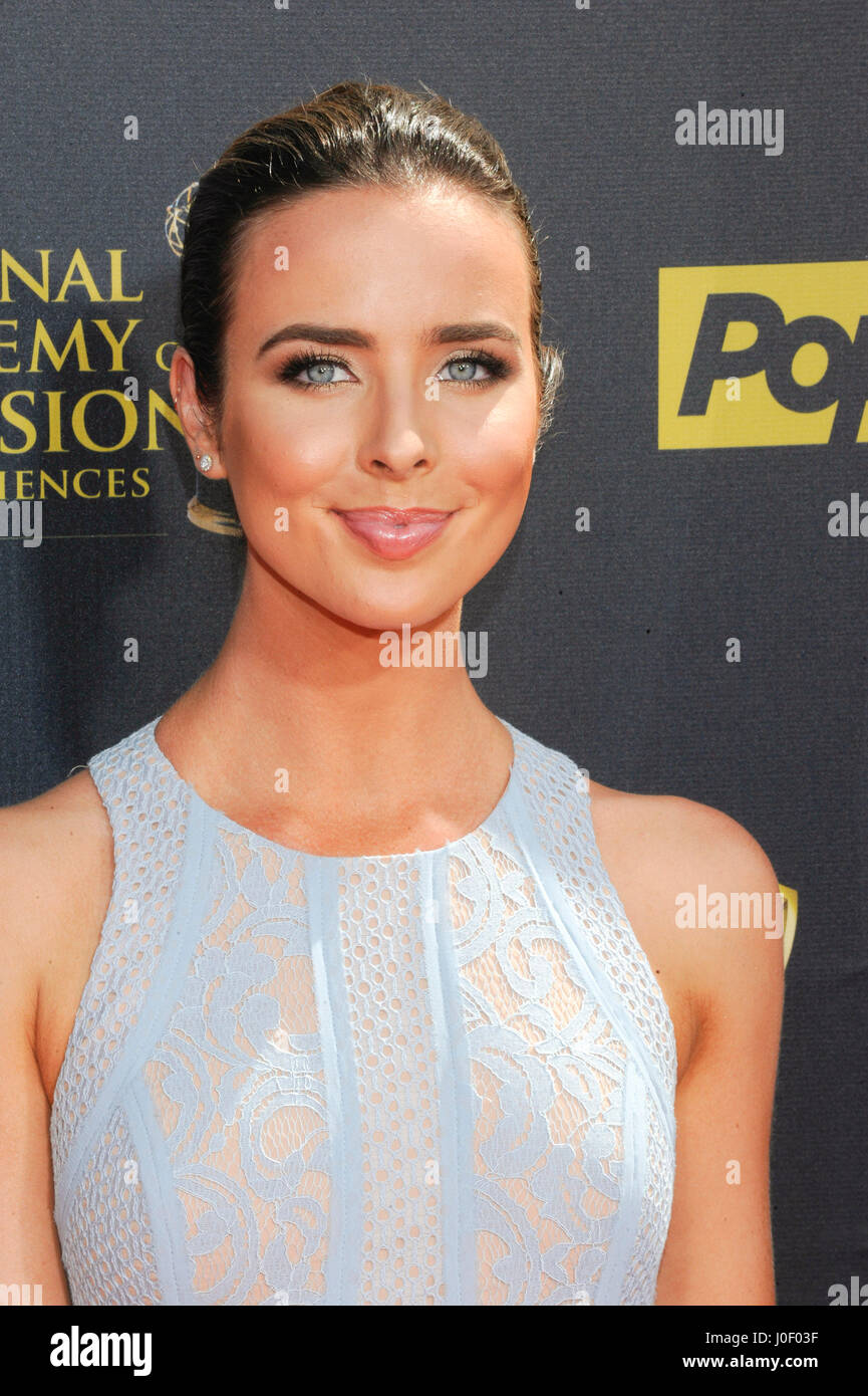 Ashleigh Brewer attends the 42nd annual Daytime Emmy Awards at Warner Bros. Studios on April 26th, 2015 in Burbank, - Stock Image