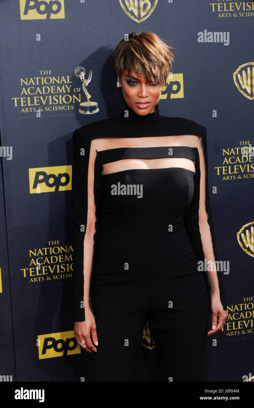 TV personality Tyra Banks attends the 42nd annual Daytime Emmy Awards at Warner Bros. Studios on April 26th, 2015 - Stock Image