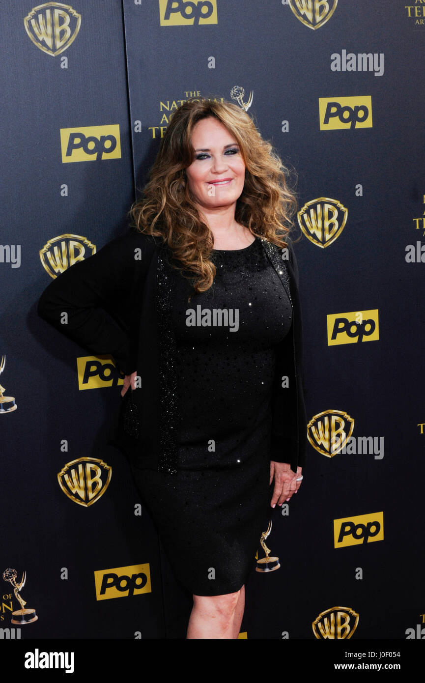 Catherine Bach attends the 42nd annual Daytime Emmy Awards at Warner Bros. Studios on April 26th, 2015 in Burbank, - Stock Image
