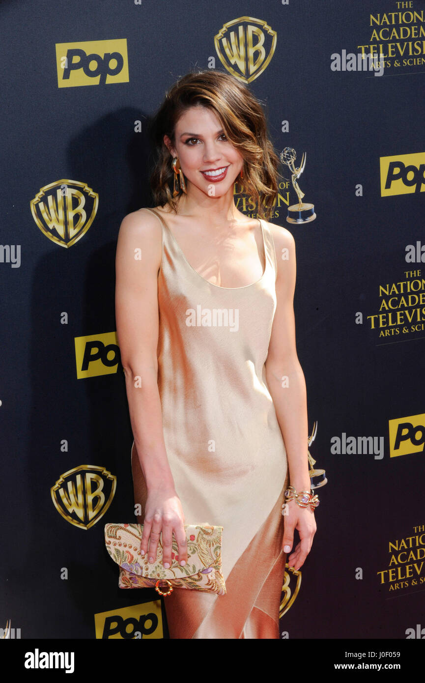 Kate Mansi attends the 42nd annual Daytime Emmy Awards at Warner Bros. Studios on April 26th, 2015 in Burbank, California. - Stock Image