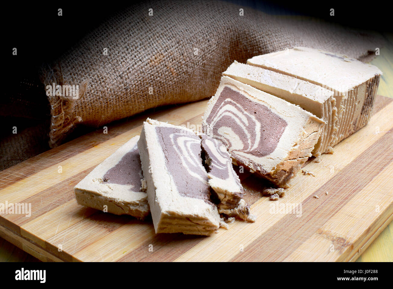 Helva is a common sweet in Turkey and the Middle East. - Stock Image