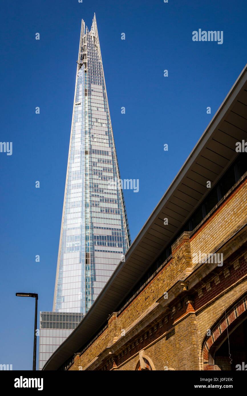 The Shard and London Bridge Station, London, England - Stock Image