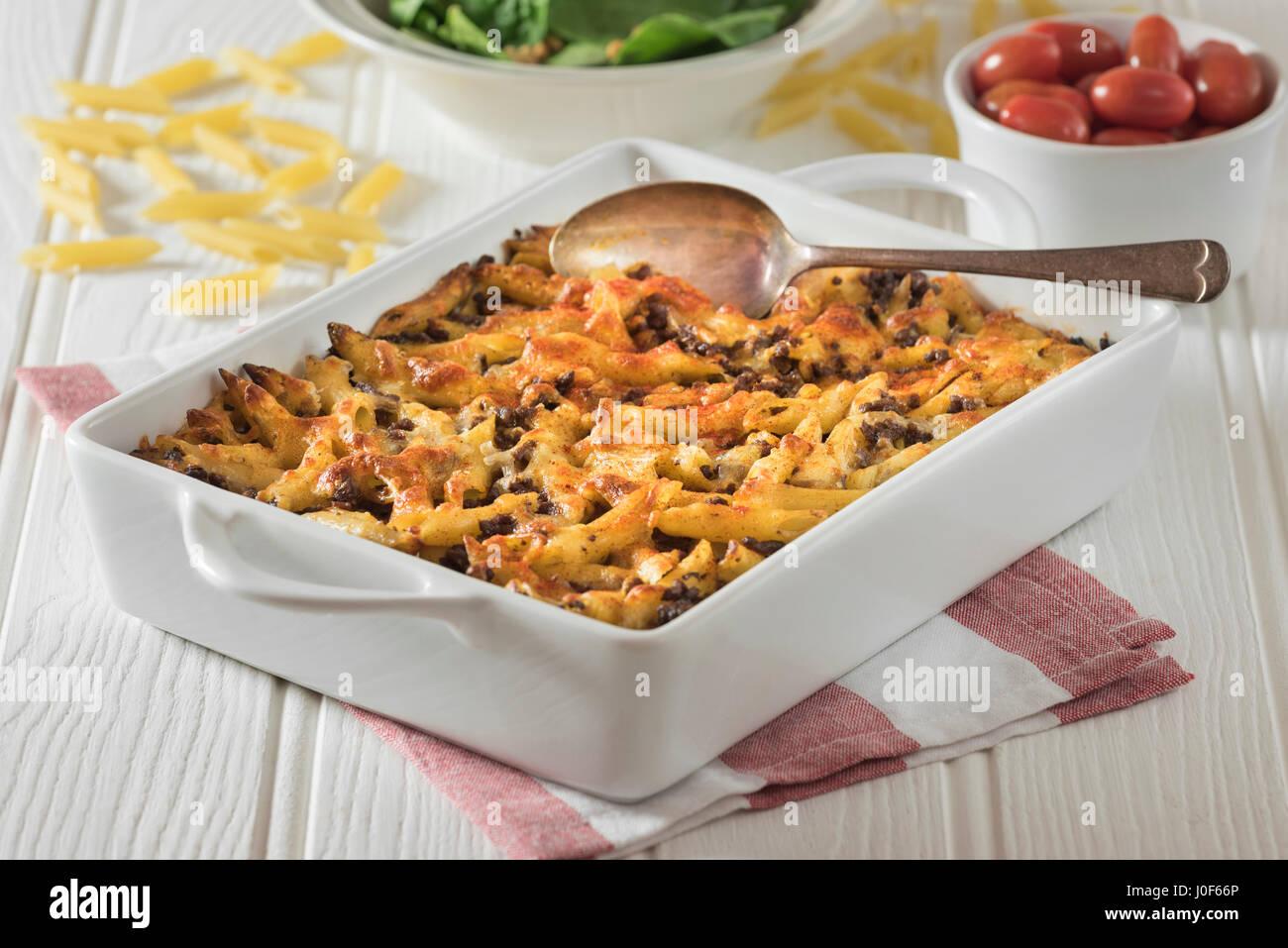 Makaronilaatikko. Finnish Macaroni Casserole. Finland Food - Stock Image