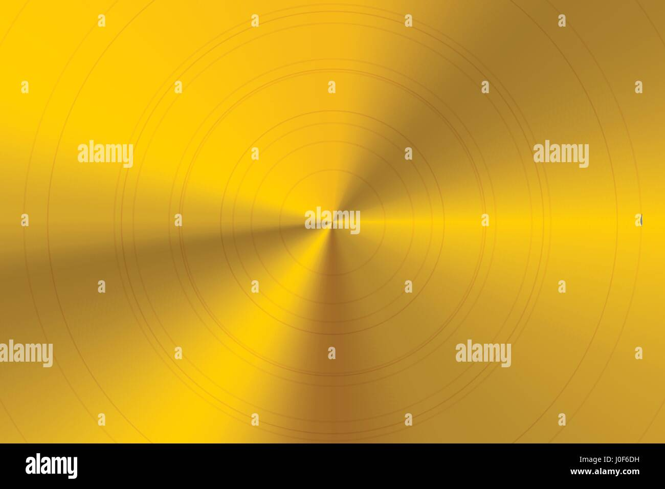 Bright glossy round polished golden metal horizontal background - Stock Vector