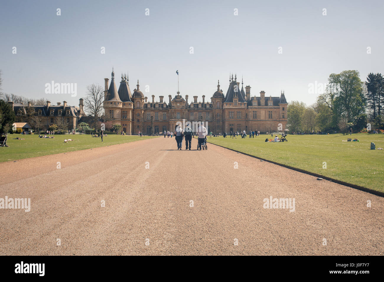 Waddesdon Manor is a country house in the village of Waddesdon, in Buckinghamshire, England. It is located in the - Stock Image