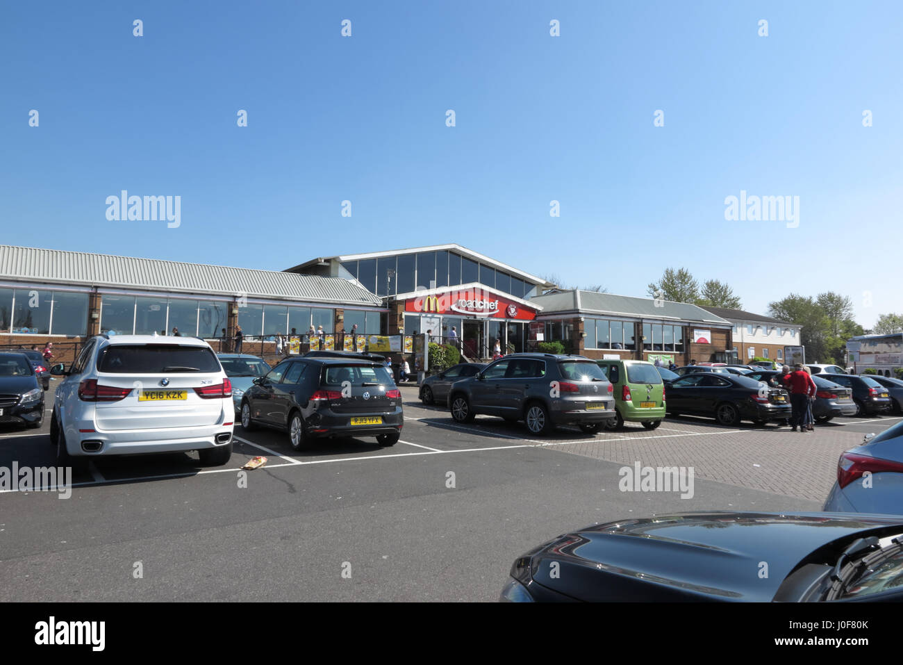 Roadchef motorway services, Watford Gap, Southbound M1 - Stock Image