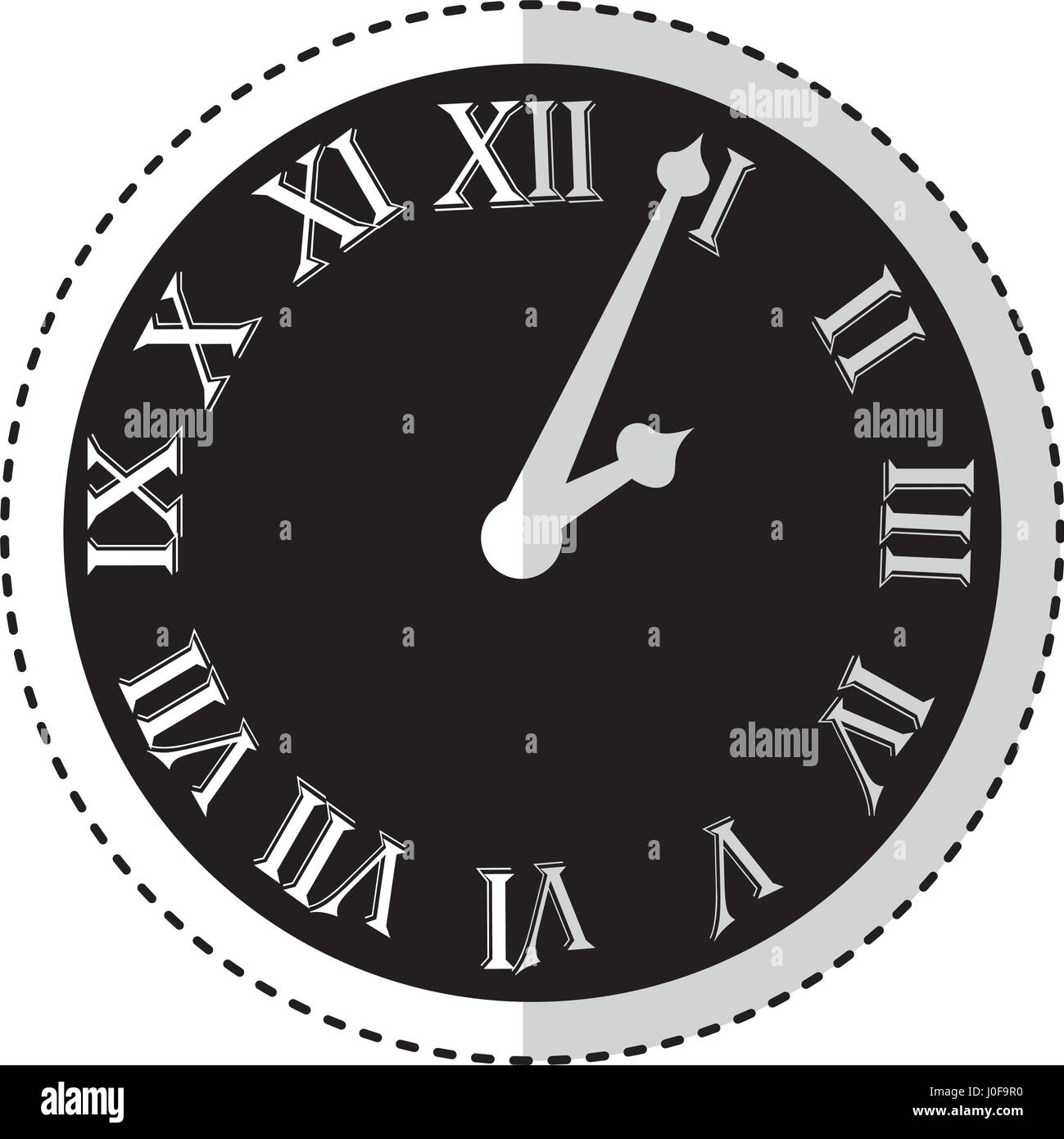 watch with roman numbers - Stock Image