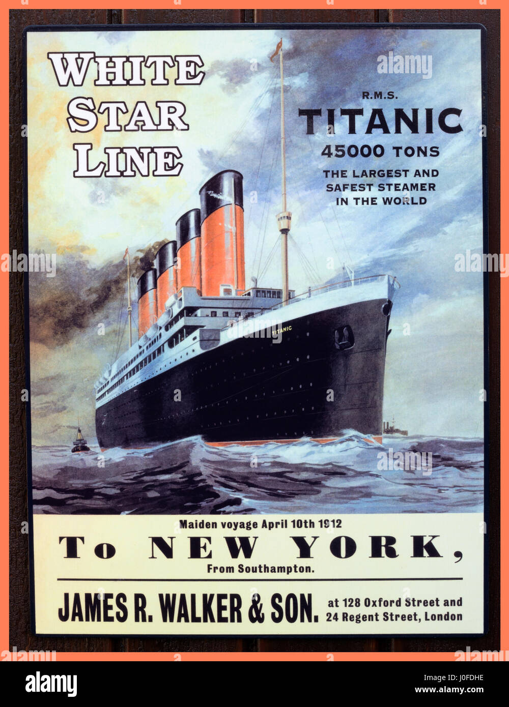 TITANIC Vintage Poster replica advertising the first ...