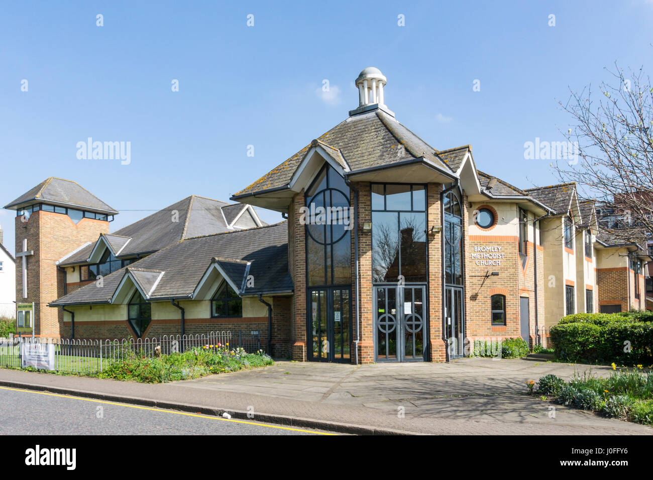 Bromley Methodist Church in South London. - Stock Image
