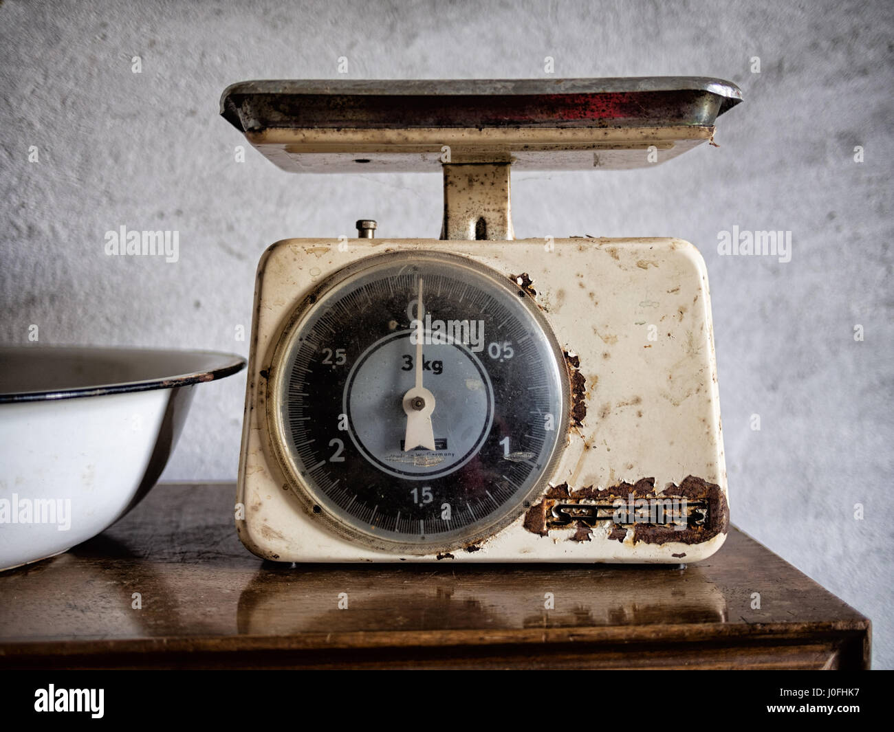 Vintage Stube Kitchen Scales. Retro And Rusty.   Stock Image