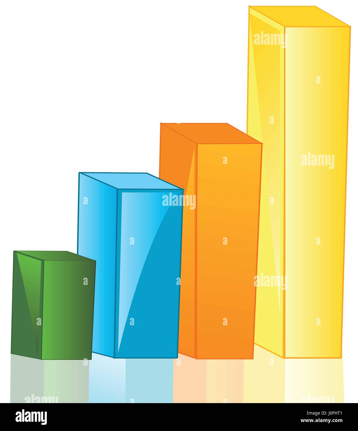Graph in the manner of square - Stock Image