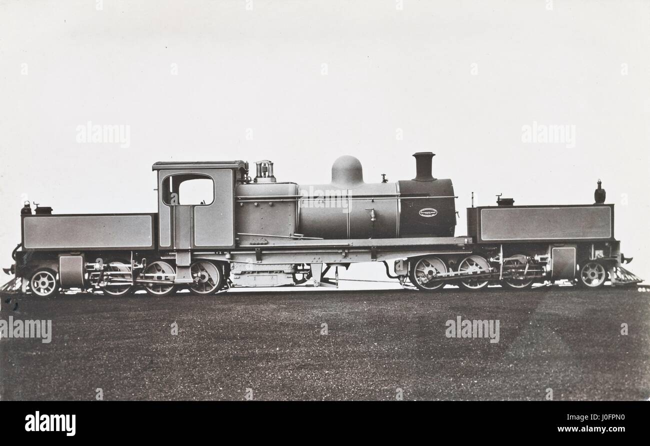 Locomotive no unidentified: 2-6-0+0-6-2 Garratt Articulated Locomotive, built by Beyer, Peacock and Company - Stock Image