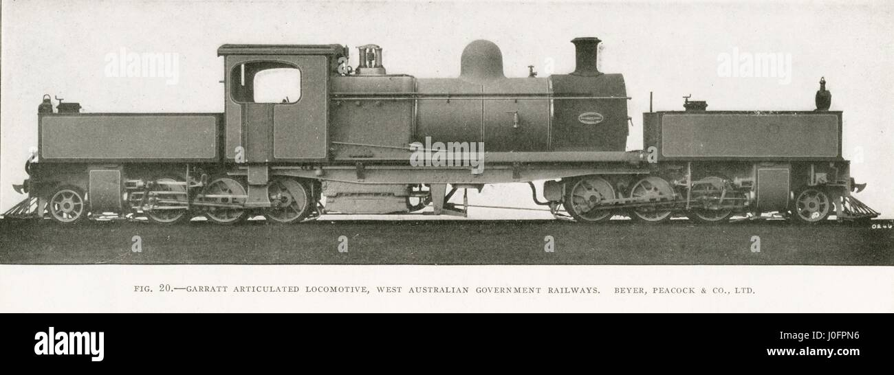 Locomotive no unidentified: 2-6-0+0-6-2 Garratt Articulated Stock ...