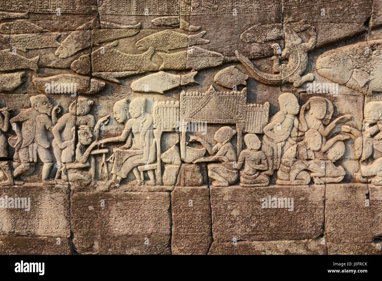 Temples at Angkor Thom, Siem Reap, Cambodia Stock Photo