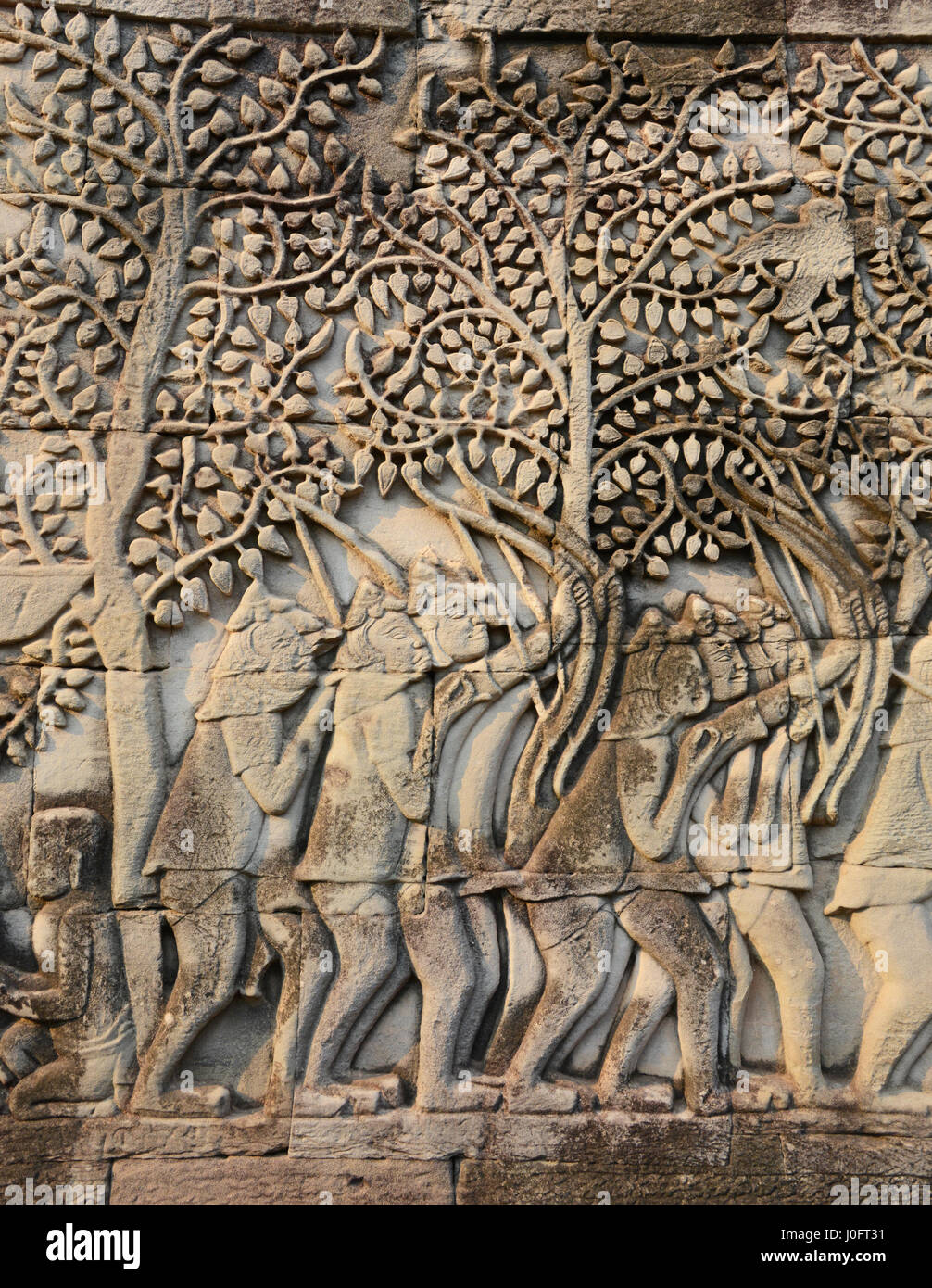 Temples at Angkor Thom, Siem Reap, Cambodia - Stock Image