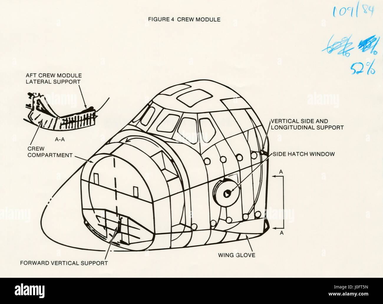 diagram of the crew module of the space shuttle orbiter stock photo rh alamy com Space Shuttle Fuel Cell Specs Space Shuttle Crew Compartment