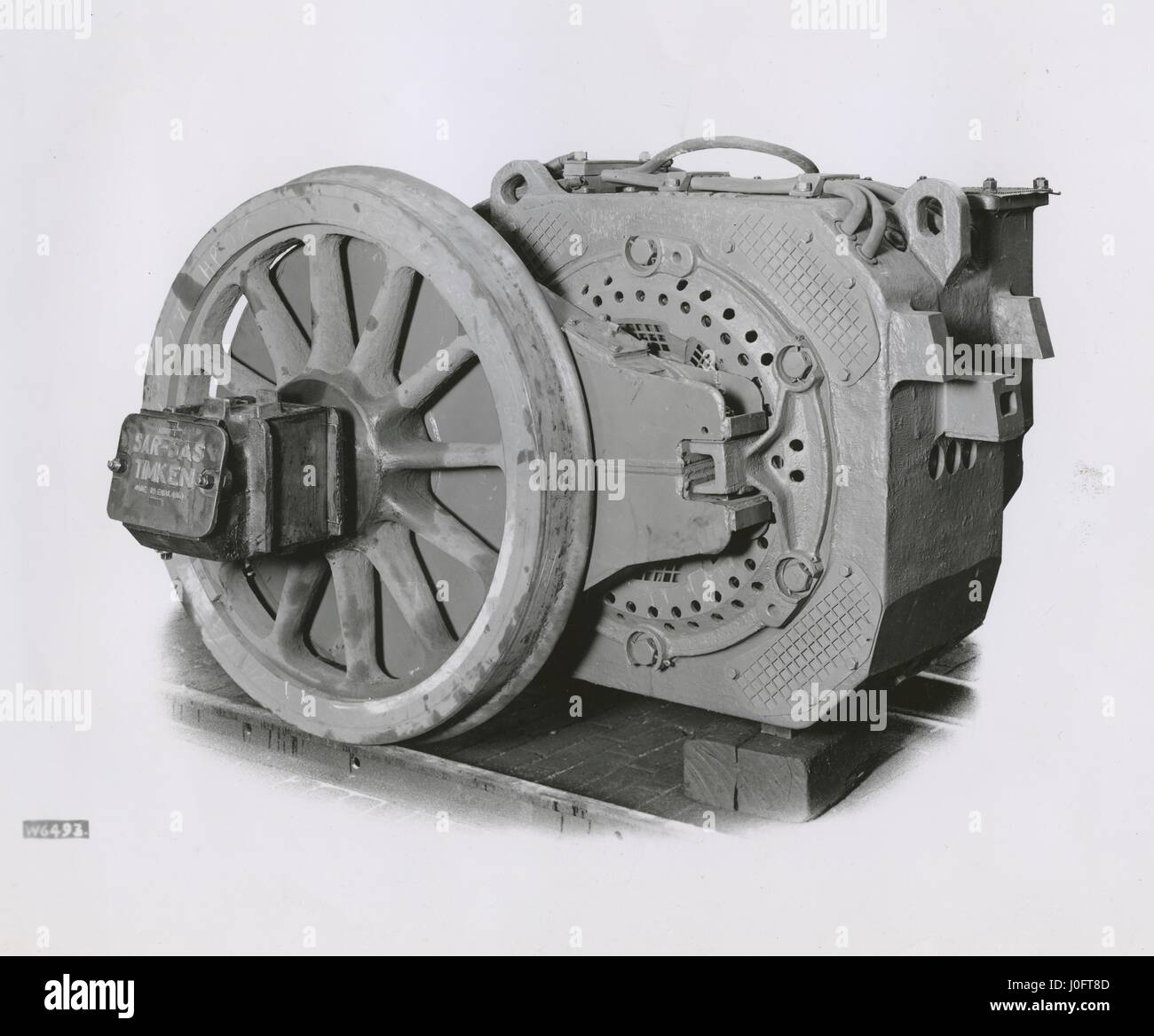 Timken traction motor, 280 kw - Stock Image