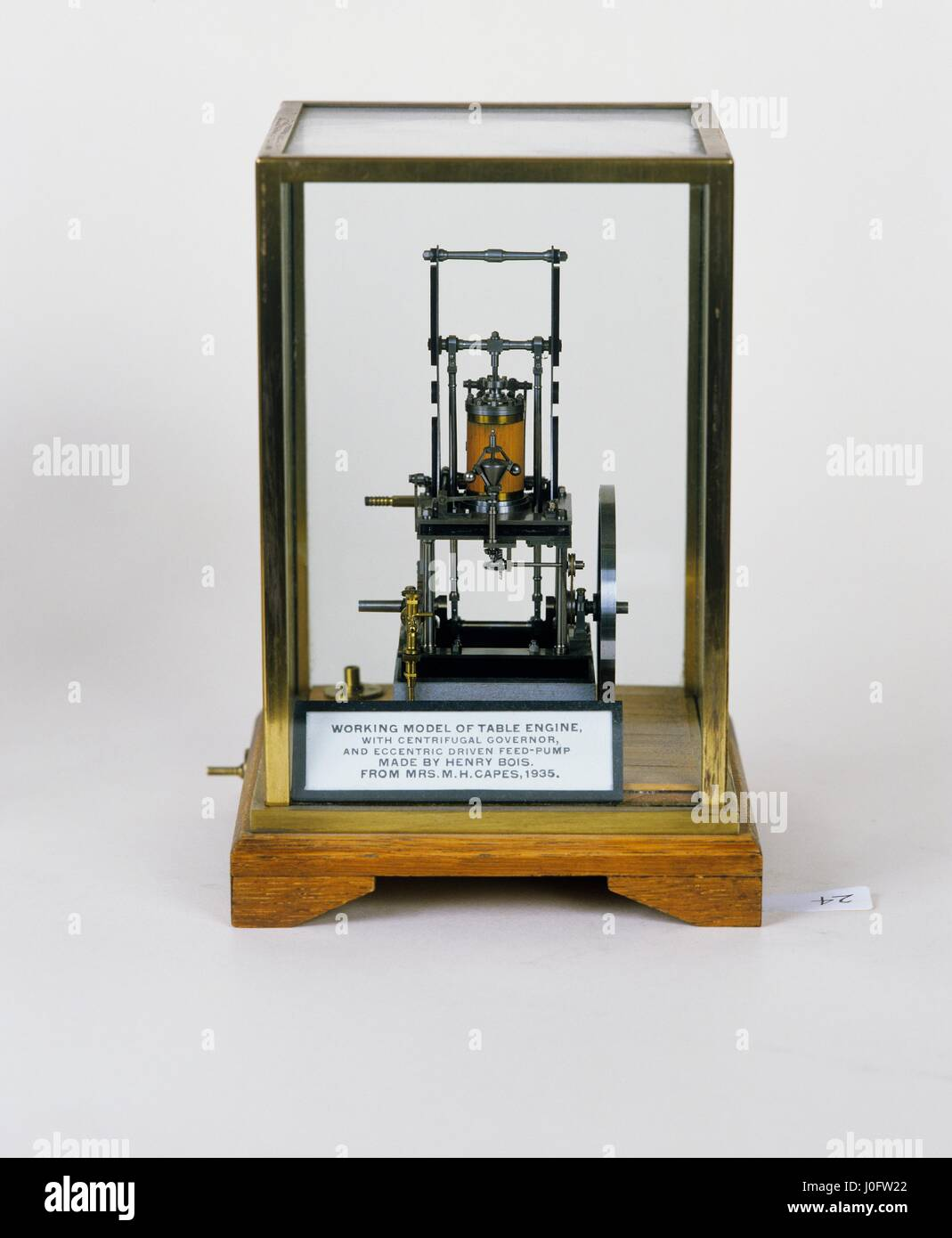 Marine table engine ST2 with centrifugal governor and eccentric driven feed-pump - Stock Image