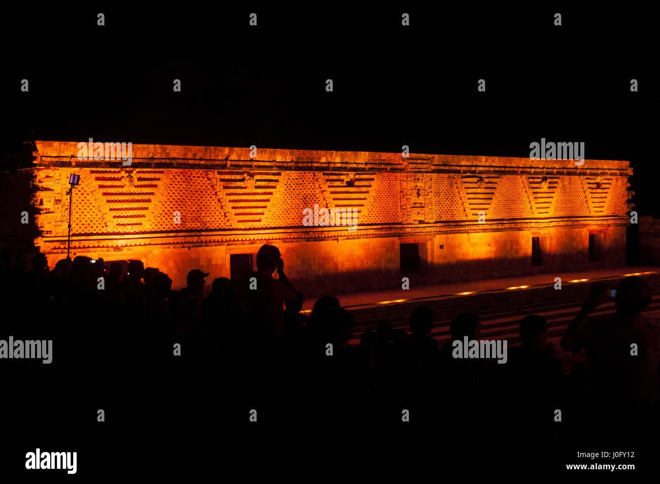 Mexico, Yucatan, Uxmal Mayan site, Nuns' Quadrangle, East Temple - Stock Image