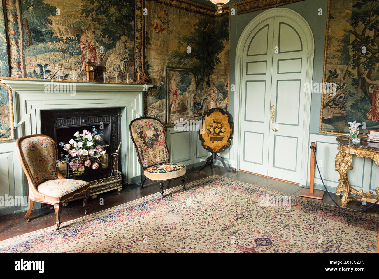 The Tapestry Room At Sausmarez Manor Home Of Peter De Present Day Seigneur