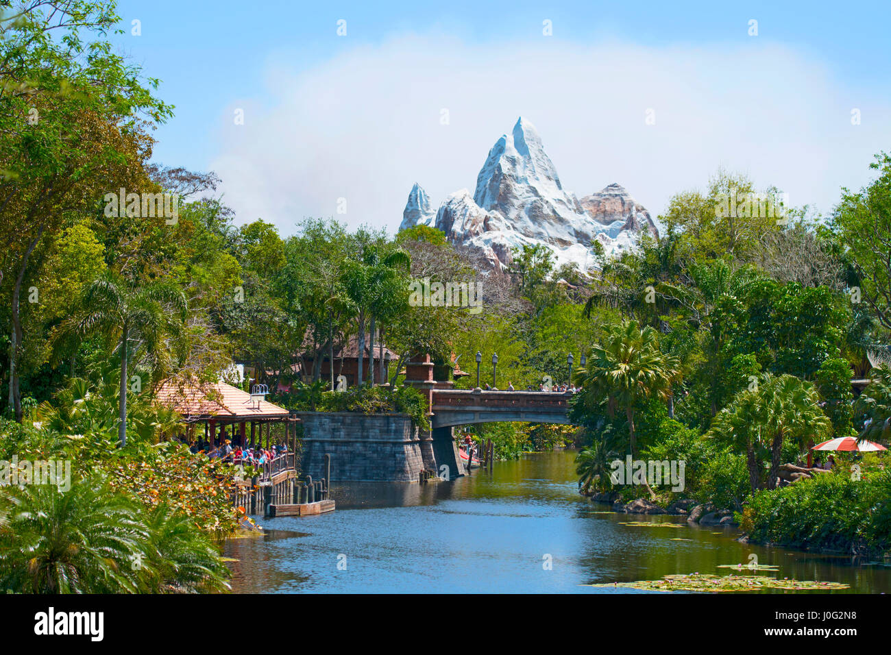 Mount Everest, Animal Kingdom, Asia, Disney World Resort, Orlando Florida - Stock Image