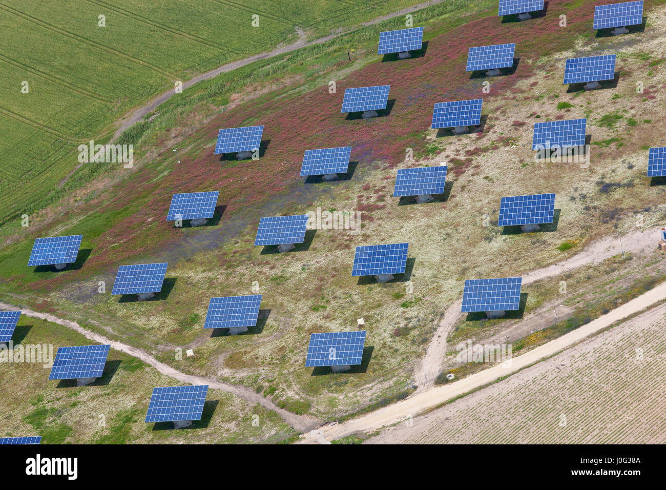 Solar Panels Aerial Stock Photos Amp Solar Panels Aerial