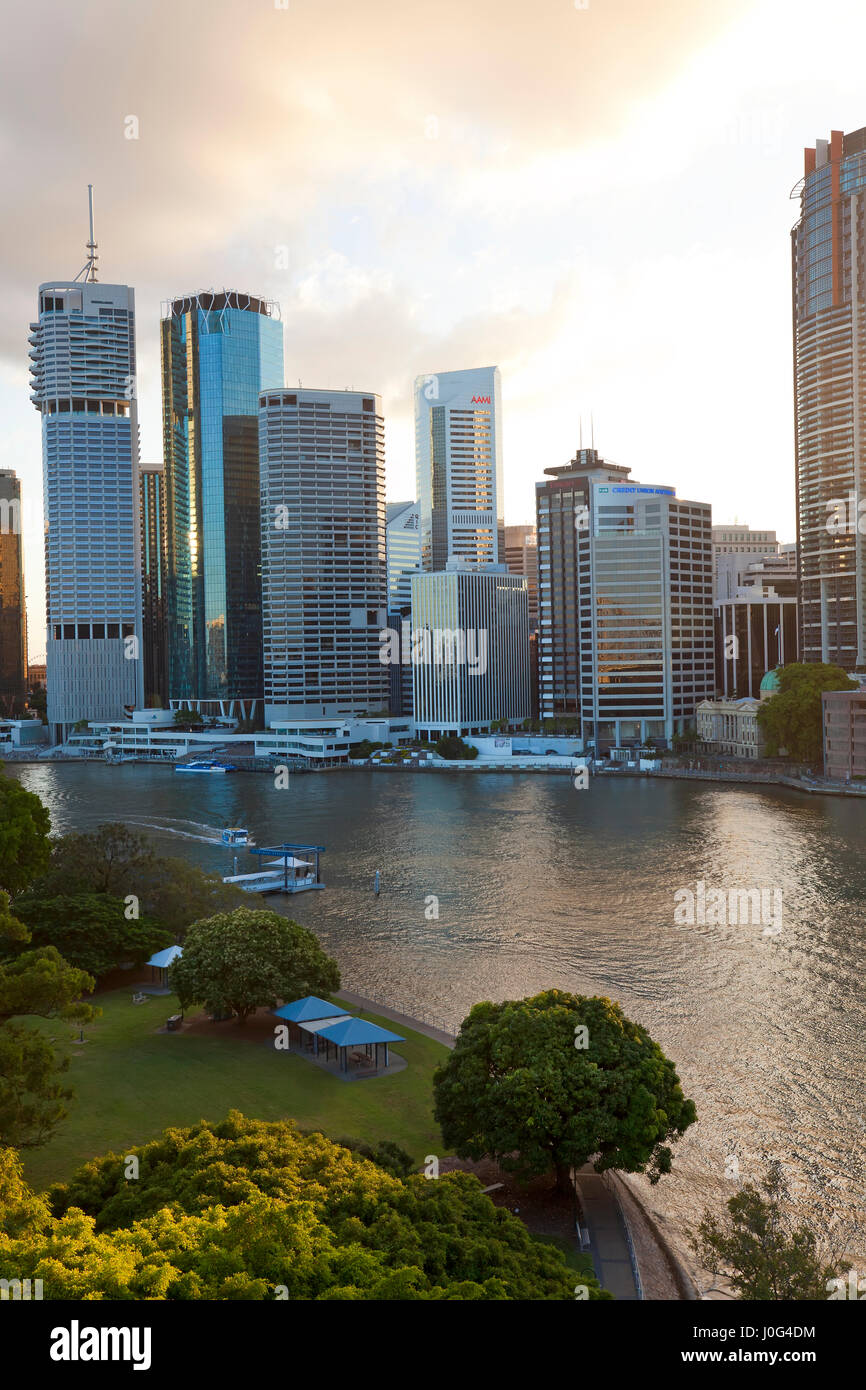 City centre & central business district. Brisbane, Queensland, Australia - Stock Image