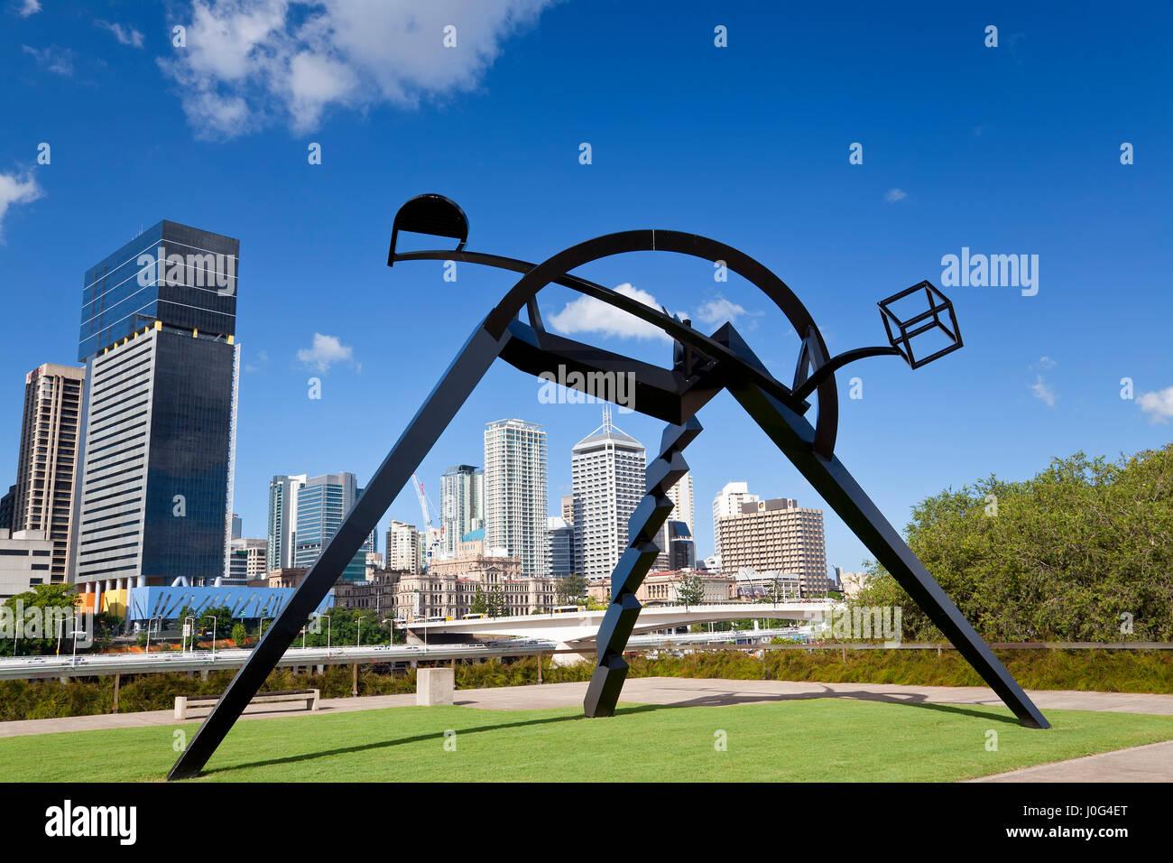 Sculpture outside Gallery of Modern Art, Brisbane, Queensland, Australia - Stock Image