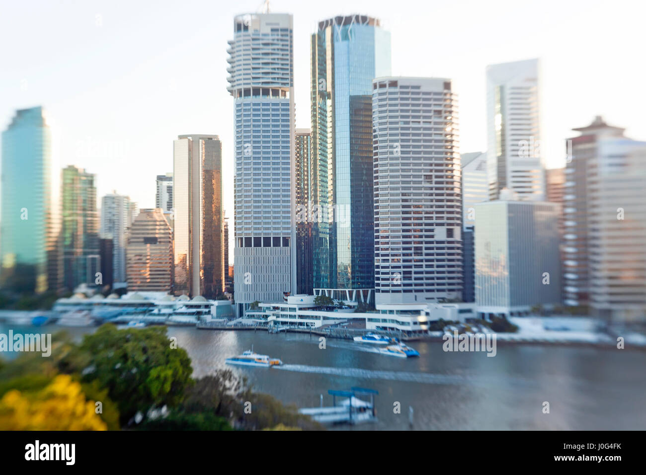 Brisbane skyline, Queensland, Australia - Stock Image